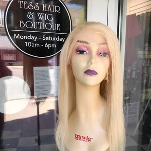 Accessories - Fulllace Wig Human hair 14 inc Long Blonde 180DN